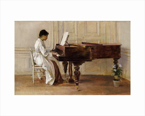 At the Piano, 1887 by Theodore Robinson
