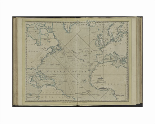 The Atlantic or Western Ocean from the West-India atlas by Thomas Jefferys