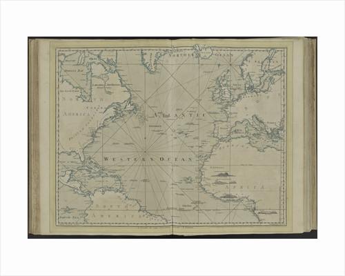 The Atlantic or Western Ocean from the West-India atlas by Thomas Jefferys