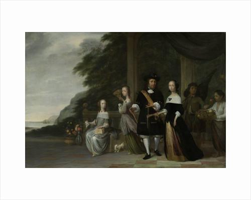 Batavian VOC chief merchant Pieter Cnoll and his family, 1665 by Jacob Coeman