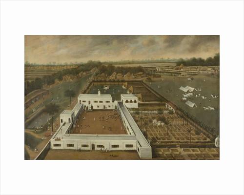 Dutch plantation in Bengal, probably the VOC lodge Kazimbazar, 1665 by Hendrik van Schuylenburgh