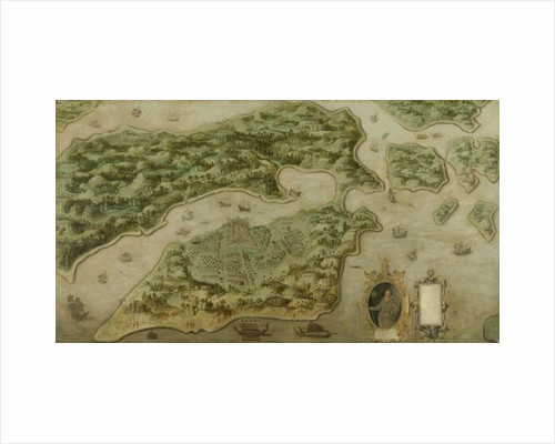Fort Victoria on the island of Amboina, 1617 by Dutch School