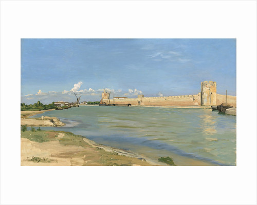 The Ramparts at Aigues-Mortes by Jean Frederic Bazille