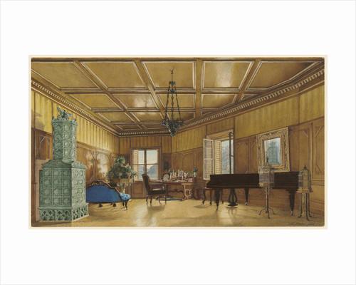 The Music Room of Archduchess Margarete, Princess of Saxony, in Schloss Ambras by Heinrich von Förster