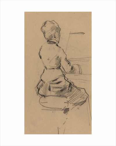 Young Woman Seated at a Piano [verso] by Jean Louis Forain