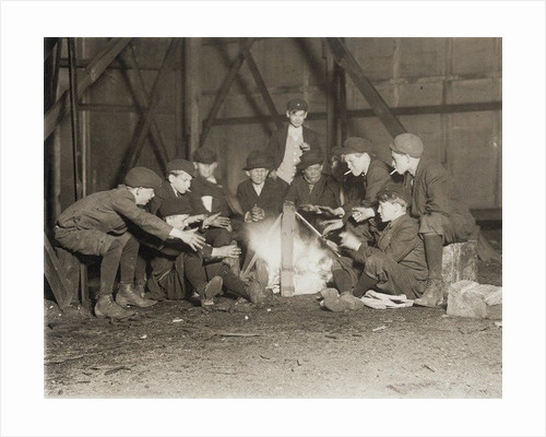 Gang of Newsboys at 10:00 p.m. by Lewis Wickes Hine