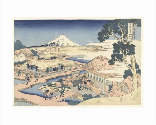 Mount Fuji from Katakura tea garden by Katsushika Hokusai