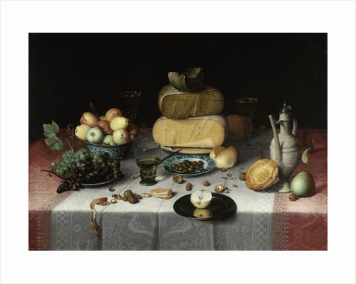 Still Life with Cheese by Floris Claesz. van Dyck