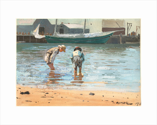 Boys wading by Winslow Homer