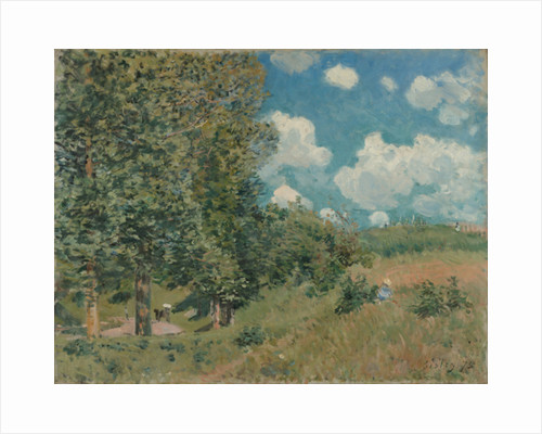 The Road from Versailles to Saint-Germain by Alfred Sisley