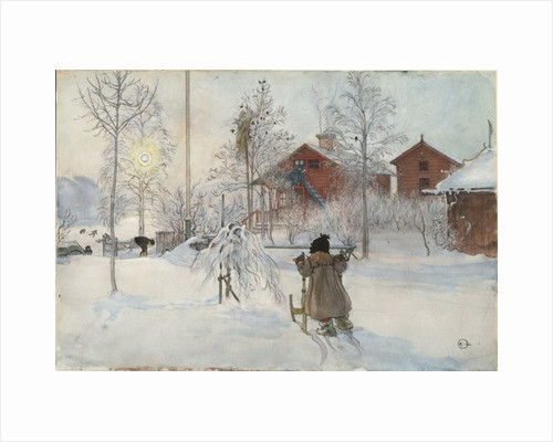 The Yard and Wash-House by Carl Larsson