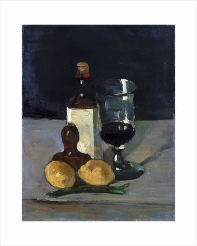 Still Life with Bottle, Glass, and Lemons, 1867-9 by Paul Cezanne