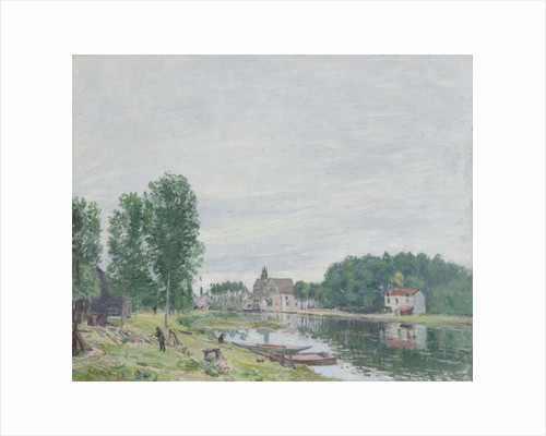 The Matrat Boatyard, Moret-Sur-Loing, Rainy Weather, 1892 by Alfred Sisley