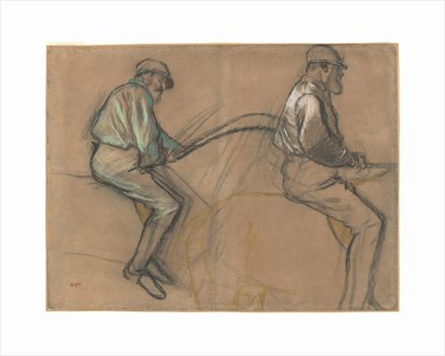Two Studies of a Jockey, c.1884 by Edgar Degas