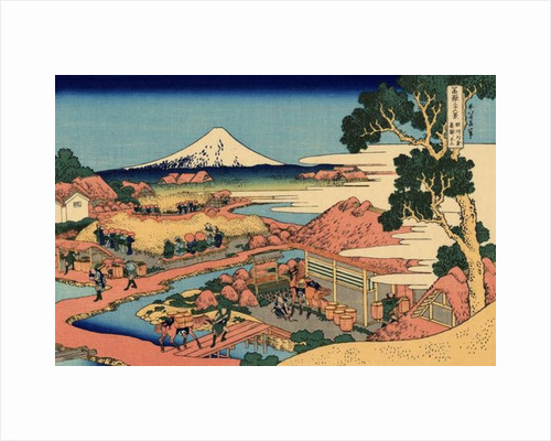 The Tea plantation of Katakura in the Suruga Province, c.1830 by Katsushika Hokusai