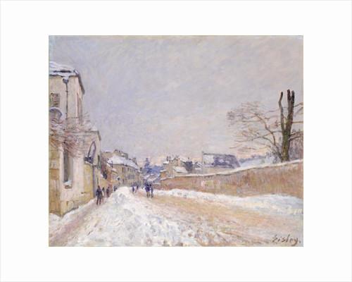 Rue Eugène Moussoir at Moret: Winter, 1891 by Alfred Sisley