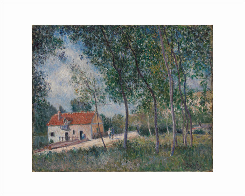 The Road from Moret to Saint-Mammès, 1883-85 by Alfred Sisley