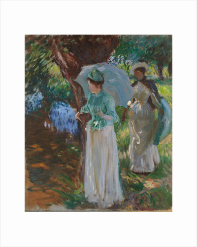 Two Girls with Parasols, 1888 by John Singer Sargent