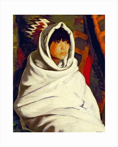 Indian Girl in a White Blanket, 1917 by Robert Cozad Henri