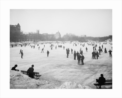 Skating in Central Park, New York by Detroit Publishing Co.