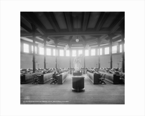 Reading room in library, University of Michigan, Ann Arbor, Michigan by Detroit Publishing Co.