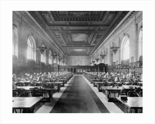 Main reading room, the New York Public Library by Detroit Publishing Co.