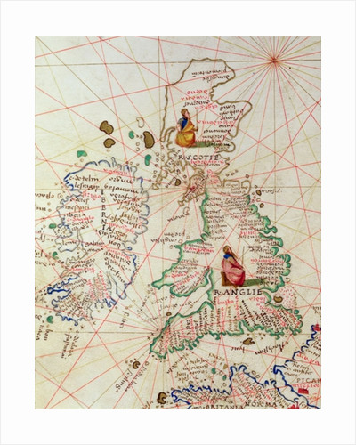 The Kingdoms of England and Scotland by Battista Agnese