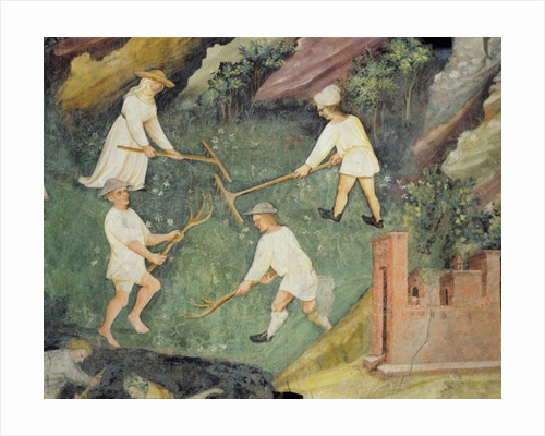 Haymaking in the month of June, detail by Maestro Venceslao