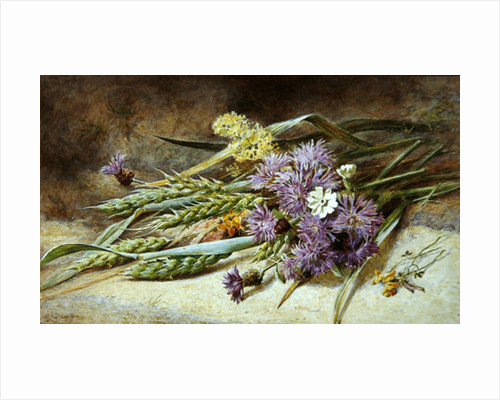 Green Wheat and Wild Flowers by Helen Cordelia Coleman Angell