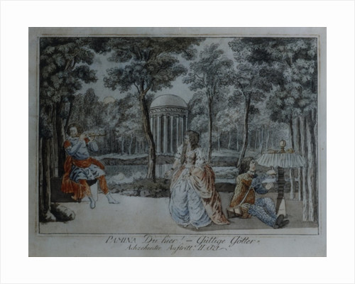 Scene from The Magic Flute by Wolfgang Amadeus Mozart by German School
