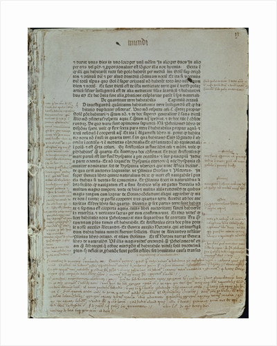 Folio from Pierre d'Ailly's 'Imago Mundi' by Spanish School