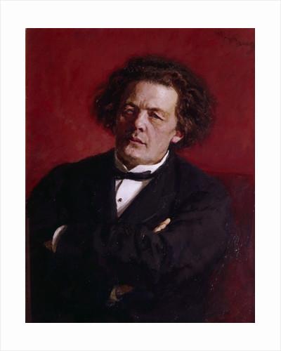 Portrait of Anton Grigoryevich Rubinstein by Ilya Efimovich Repin