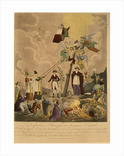 Allegory of the re-establishment of the Catholic religion in France in 1802 under Napoleon Bonaparte as First Consul by French School