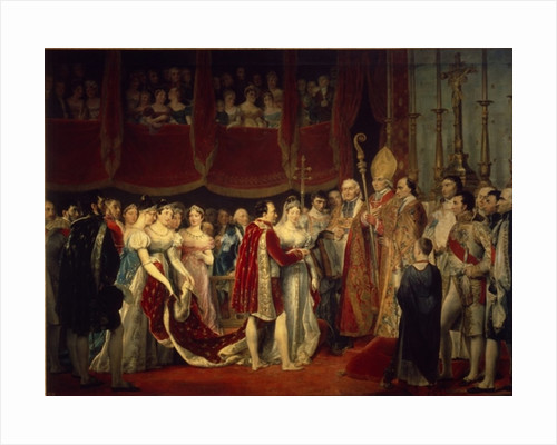 The marriage ceremony of Napoleon I and Archduchess Marie-Louis on 2nd April 1810 by Georges Rouget