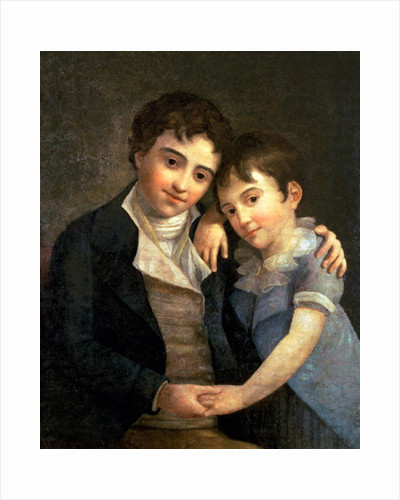 Portrait of Karl Thomas and Franz Xaver, the two sons of Wolfgang Amadeus Mozart by Hans Hansen