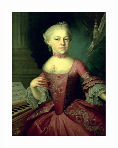 Maria-Anna Mozart, called 'Nannerl' by Peter Anton Lorenzoni