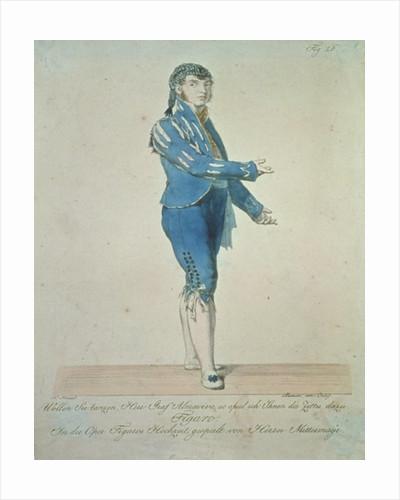 Figaro, valet to Count Almaviva by Johann Nepomuk Muxel