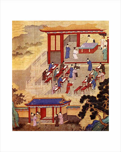 An Ancient Chinese Public Examination, facsimile of original Chinese scroll by Chinese School