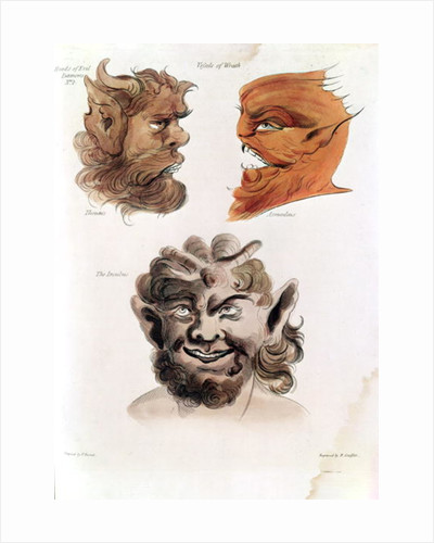 Heads of Evil Demons: Theumis, Asmodeus and The Incubus by Francis Barrett