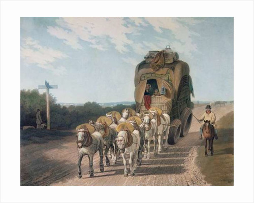 Stage Waggon, engraved by J. Baily, pub. by J. Watson by English School