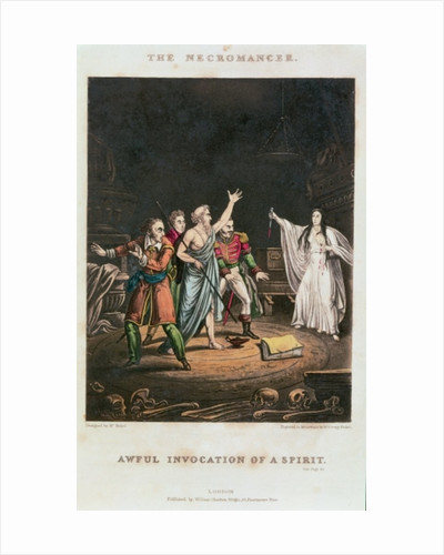 """Awful Invocation of a Spirit"""", illustration to 'The Necromancer', engraved by George Russell, pub. by William Charlton Wright by Alexander Fussel"""