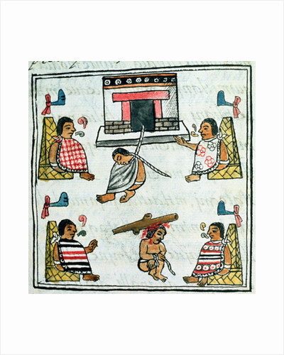 Book IX Judgement and Punishment in the Aztec empire by Spanish School
