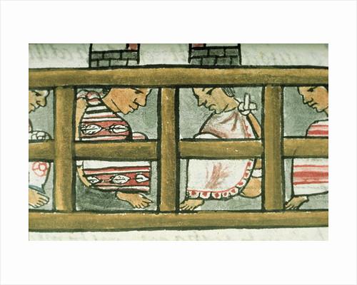 Aztec prisoners by Spanish School