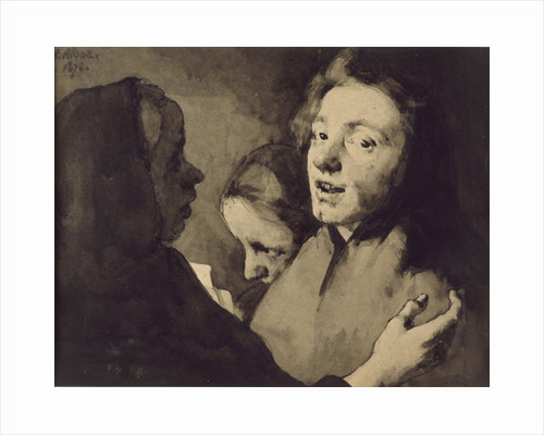 Conversation Piece: Three Heads, 1872 by Auguste Theodule Ribot