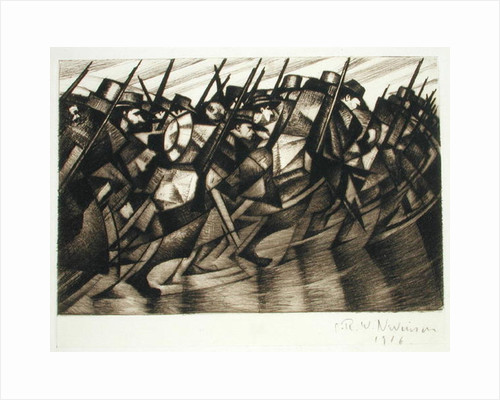 Returning to the Trenches, 1916 by Christopher Richard Wynne Nevinson