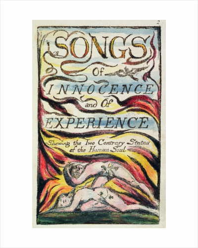 Combined Title Page from 'Songs of Innocence and of Experience' by William Blake