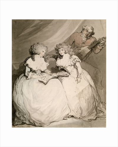 The Duchess of Devonshire and her Sister, the Countess of Bessborough by Thomas Rowlandson