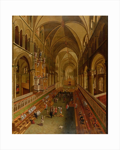 Interior of Canterbury Cathedral by English School