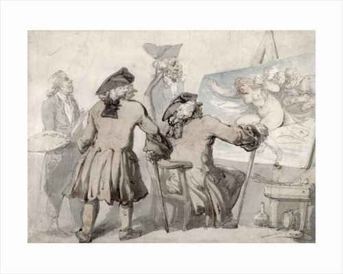 The Connoisseurs by Thomas Rowlandson