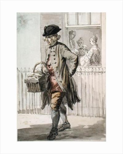 London Cries: A Muffin Man by Paul Sandby